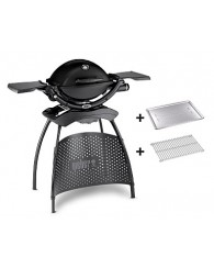 Weber® Q 1200 Gas Grill with Stand, black++