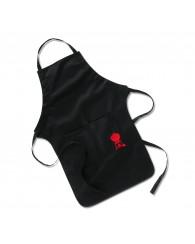 Tablier de barbecue noir, avec Kettle rouge